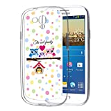 Samsung Galaxy S3 Mini Handyhülle Hülle Schutz Cover Silikon Case Eulen Happy Family