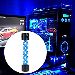 Asiproper 255mm T Virus rotatif Réservoir d'eau de refroidissement à eau pour PC Système de refroidissement liquide bleu