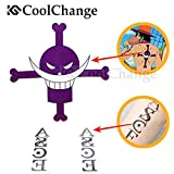 CoolChange One Piece temporärer Tattoo Aufkleber Bogen für Puma D. Ace