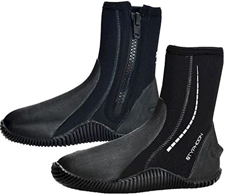 Typhoon - Botas de agua con cremallera, negro, Size 8 (42) Medium