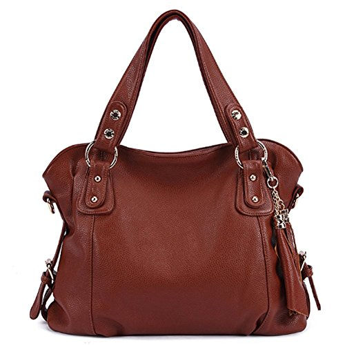 bagoddess Ladies Borsa Elegante Borsa a tracolla in pelle Retro ispirato Borsetta, marrone (Brown), Taglia unica