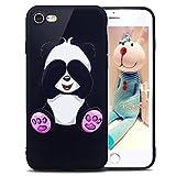 ikasus Coque iPhone 8/7 Etui Motif Papillon Panda Hibou Fleur Couleur peinte Coque...