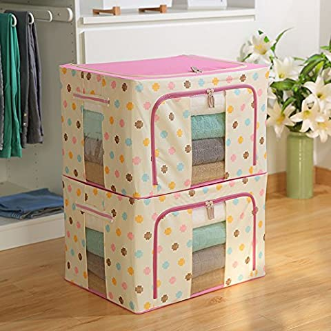 Panno Storage Box / coperto Folding Storage Box / grande scatola di immagazzinaggio / Folding Storage Box (10 colori facoltativi) ( colore : 8# )
