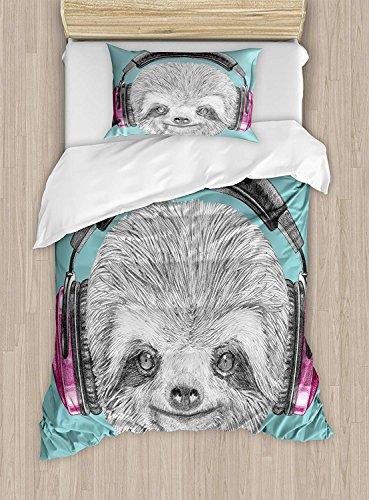 Fantasy Star Bettwäsche Sets für Jungen, Bettbezug Set für Mädchen, beinhaltet 1Bettlaken 1Spannbetttuch und 2Kissenbezüge Twin Size Color14 -