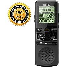 Miric Registratore Vocali Portabile 8GB multifunzionale Digital Audio Voice Recorder con porta USB