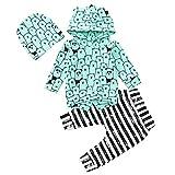 togel Säuglings Baby Jungen Mädchen Langarm Tierdruck Tops + Hosen + Hut Outfits Kleidung Jungen Mädchen Weihnachten Kurzarm kindermode babysachen kinderkleidung kaufen Baby-Anzug