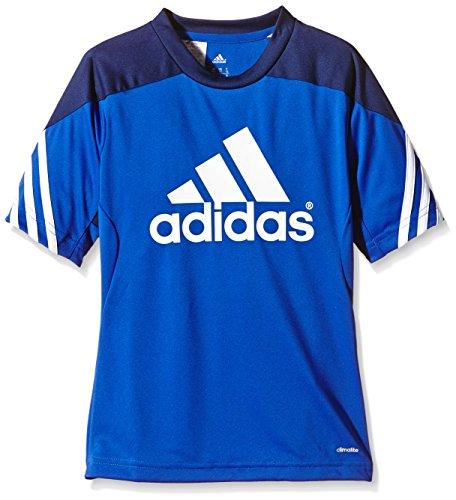 adidas Kinder Trikot/Teamtrikot Fußball bekleidung Sere14 Trainings jersey, bold blau/dunkel blau/Weiß, 116, F49695 (Weiß Fußball Jersey Kinder)