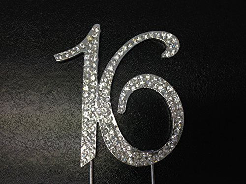 Strass-Geburtstags-Kuchen-Deckel-Nummer Wählen Bonbon-16 Diamante Gems Decorati (Geburtstag-kuchen-deckel 18)