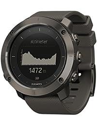 Suunto Traverse Amber Gray Case/Amber Silicone Strap GPS Watches - Black by Suunto