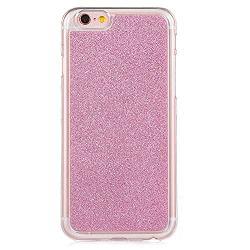 "Translucide Cover avec Kickstand Ring pour Apple iPhone 6/6s 4.7"", CLTPY Soft Gomme Shell dans 2in1 Amovible Scintillate Glint Motif Antipoussière Anti-rayures Ultra Mince Léger Fit pour iPhone 6,iPho Pink"