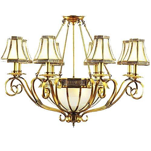 Lusso soggiorno lampadari di rame europeo vetro classico rame dorato ristorante camera da letto lampade a sospensione a soffitto sala studio lampada a sospensione sala da pranzo lampada a sospension