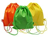 3 Pack Drawstring Backpacks Sackpack Tote Cinch Gym Bag/Storage Bags, Suitable for Clothes Shoes Trips Home Travel Sport Birthday Party Alliswell