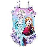 Maillot de bain 1 pièce enfant fille La reine des neiges Violet de 3 à 10ans