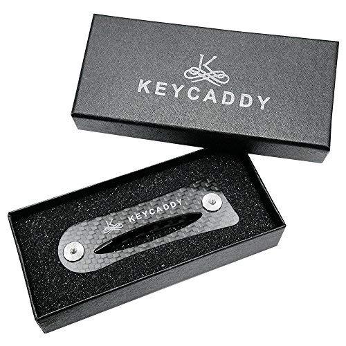 Compact organizer- Key Caddy-PREMIUM Schlüsselbrett Karbonfaser Schwarz Rahmen plus Anti-lösen Technologie-Geschenk für -
