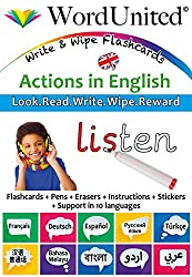 Actions in English: Write & Wipe Flashcards