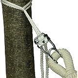 10T Hamacafix Kit de fixation pour Hamac Blanc 2 x 160 cm