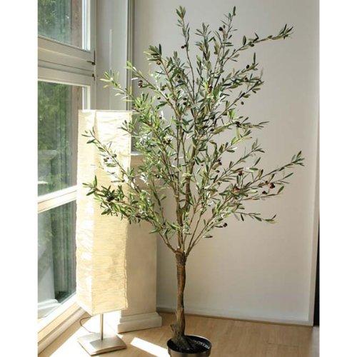 artplants – Künstlicher Olivenbaum, getopft, 210 cm hoch – Dekobaum/Olivenbaum Deko