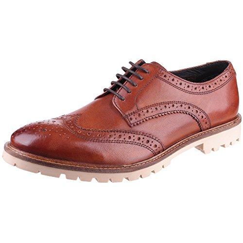 Base London Raid, Hommes Chaussures en cuir Tan Marron