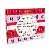 Advent Calendar, Countdown for Christmas for Girls Women with Fashion Hair Binder Earring Bracelets Ring Set by 24 Pack