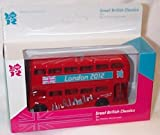 corgi 2012 great british classics olympic red london bus 1.64 scale diecast model
