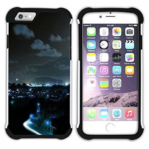 Graphic4You Windy City Sunset Skyline Postkarte Ansichtskarte Design Hart + Weiche Kratzfeste Hülle Case Schale Tasche Schutzhülle für Apple iPhone 6 Plus / 6S Plus Design #5
