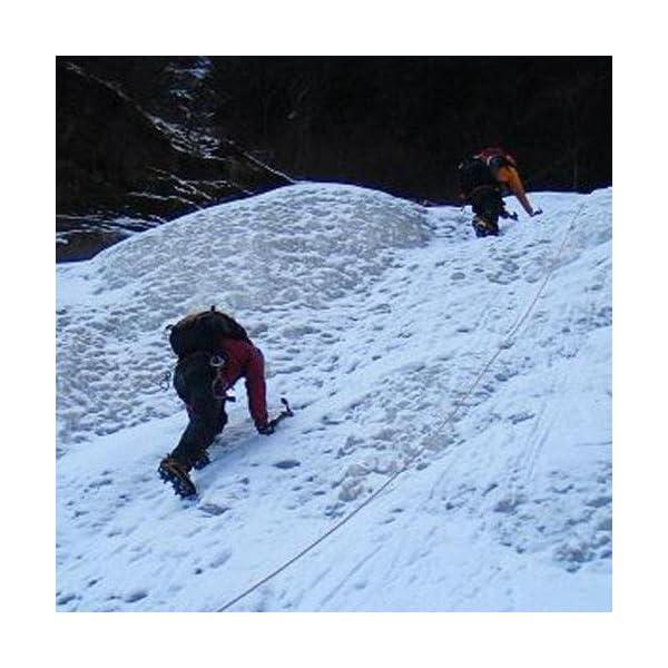 ValueHall Crampones universales 18 Dientes Acero Hielo Grips Antideslizante Nieve y Hielo tracción Tacos Zapato Cadenas… 5