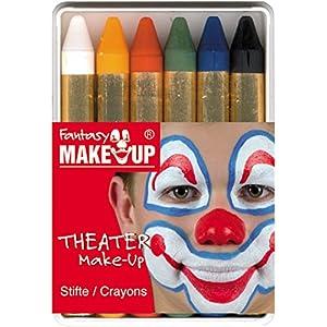 KREUL Fantasy Schminkstifte mit 6 Farben, 1er Pack (1 x 6 Stück)