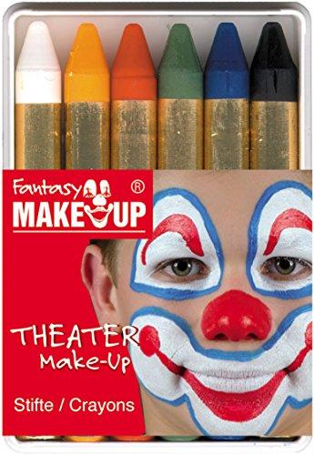 kstifte mit 6 Farben, 1er Pack (1 x 6 Stück) (Make-up-gesicht Malen)