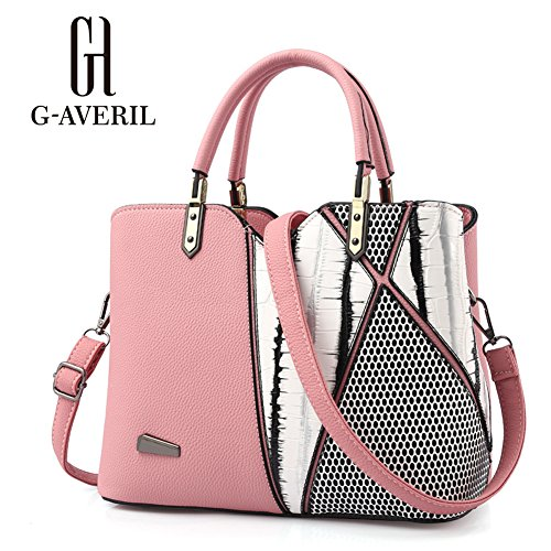 G-AVERIL, Borsa a mano donna Viola Purple Pink