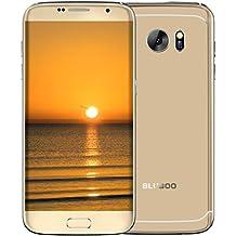 """Bluboo Smartphone libre Android 6.0 4G de 5""""(Pantalla 5.5"""", Cámara trasera 13 Mp, Quad Core 1.3 GHz, 2GB de RAM, 16GB de ROM, Dual SIM)dorado"""