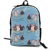 Dancing Chicken Rucksäcke für Frauen Männer, Computer Laptop Rucksack, Casual Book Bag Travel Camping Daypack