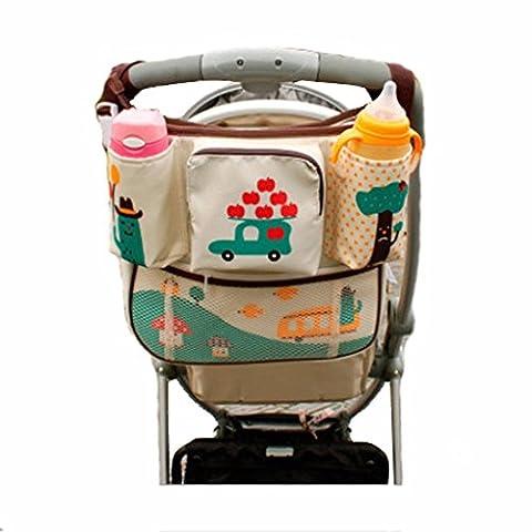 OLD-KING Organisateur de poussettes pour bébés, Buggy Organizer, sac à bandoulière amovible, tissu d'Oxford