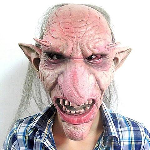 Enerhu Masque Terrifiant Monstre avec Cheveux Déguisement Halloween Carnaval