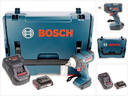 Preisvergleich Produktbild Bosch GDS 18 V-EC 250 Professional brushless Akku Dreh Schlagschrauber mit L-Boxx, GAL 1880 CV Schnellladegerät und 1x GBA 2 Ah Akku