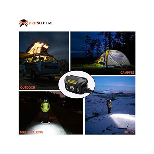 camping with kids head torch