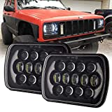 Sxma 12,7 x 17,8 cm Sealed Beam de remplacement CREE LED phares avec DRL pour Wrangler Yj Cherokee XJ