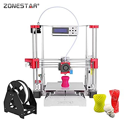 ZONESTAR P802Q i3 Metal FDM 3D Printer DIY Kit Support Auto Leveling Resume Upgrade Large Printing Size 220 * 220 * 240mm High Accuracy w/ Heatbed + 0.5kg 1.75mm White PLA Filament