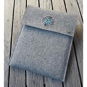 zigbaxx Tablet Hülle MAROC Case Sleeve Filz u.a. für iPad 9.7, iPad Pro 9,7/10,5/11 Zoll (2018), iPad mini 2/3/4, iPad Air, 100% Wollfilz pink schwarz beige grau braun – Geschenk Weihnachten
