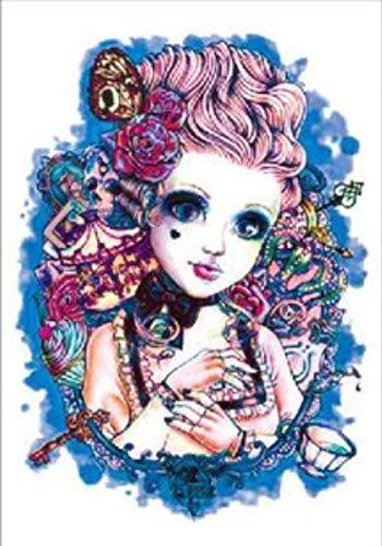 Adesivi tatuaggio temporaneo fata farfalla fiore braccio completo nero corpo impermeabile per uomo donna festival moda corpo falso adulto 21x15 cm 5 pcs