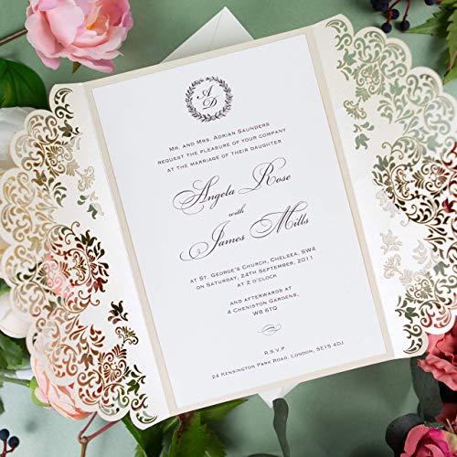 Oro Brillante Invitaciones de bodacumpleaños infantil de comunion bautizo Tarjetas ...