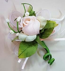 Set 24 pezzi, Bomboniera fiore bouquet bocciolo, + racchettine portaconfetti. (ck2021) (PESCA)