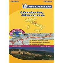 Marche and Umbria Michelin Local Map 359 (Michelin Regional Maps)