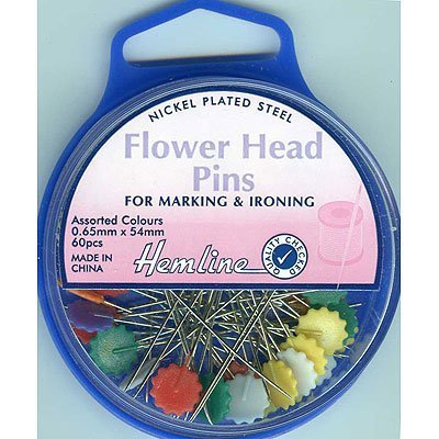 Hemline-Flower-Head-Pins-54mm-pk-of-60