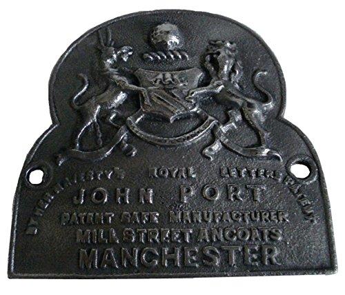 Brass Blessing Messing Segen, Antik-Stil, Heavy Cast John Port Manchester Safe Teller–Best Collection (5130)