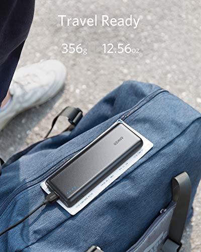 Anker PowerCore 20100mAh Externer Akku – kompakter als jemals zuvor – extrem hohe Kapazität 2-Port 4.8A Output Power Bank Ladegerät mit PowerIQ Technologie für iPhone, iPad, Samsung Galaxy und weitere (Schwarz/Matt) - 5