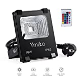 Ymiko 10W RGB LED Fluter Floodlight Strahler, Led...