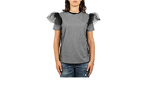 f2723e607184 Red Valentino T-Shirt con Tulle Donna Mod. QR3MG09Y  Amazon.co.uk  Clothing