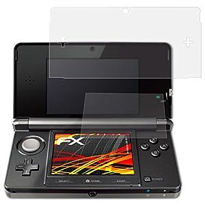 atFoliX Schutzfolie kompatibel mit Nintendo 3DS 2011 Displayschutzfolie, HD-Entspiegelung FX Folie (3er Set)