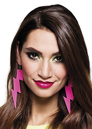 80s Pink Flash Lightning Bolt Earrings