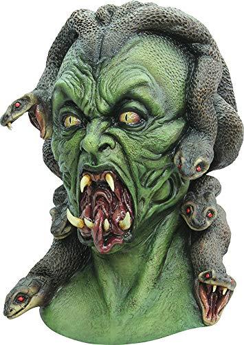 C&C Medusa Serpente Haired Latex Horror Halloween Maske Kopf Hals